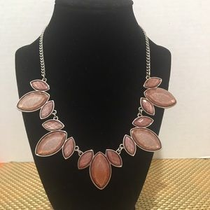 Charming Charlie Rose stone collar necklace